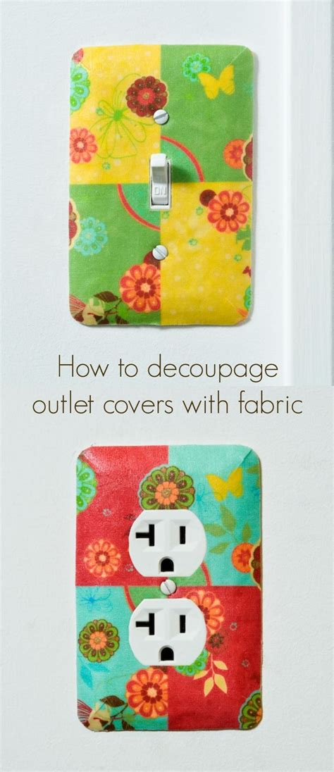 Decoupage Switch Plates - how to decoupage outlet covers and light switch plates