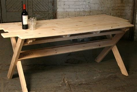 pallet dining table plans image mag