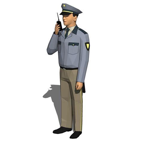 security guards 20 3d model formfonts 3d models textures