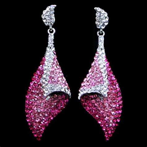 Pink Earring glam earrings pink prestigeapplause jewels