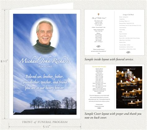 how to make memorial cards for funeral funeral programs by memorial prayer cards