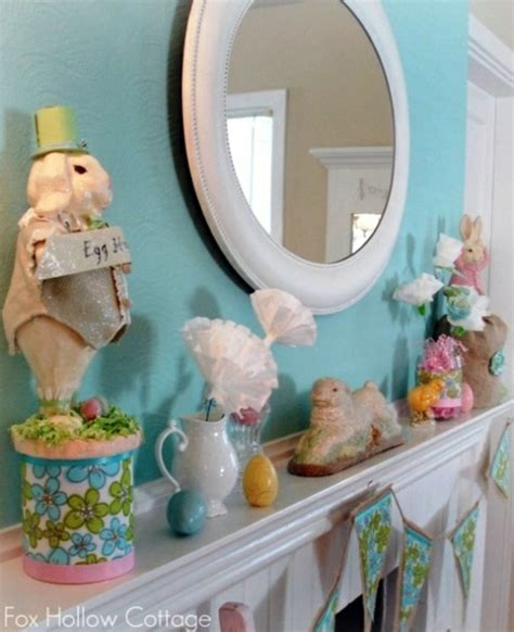 32 stylish deco ideas for easter adorn the mantel