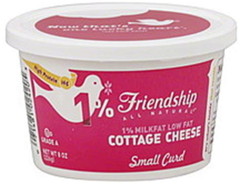 friendship cottage cheese low fat small curd 1 milkfat