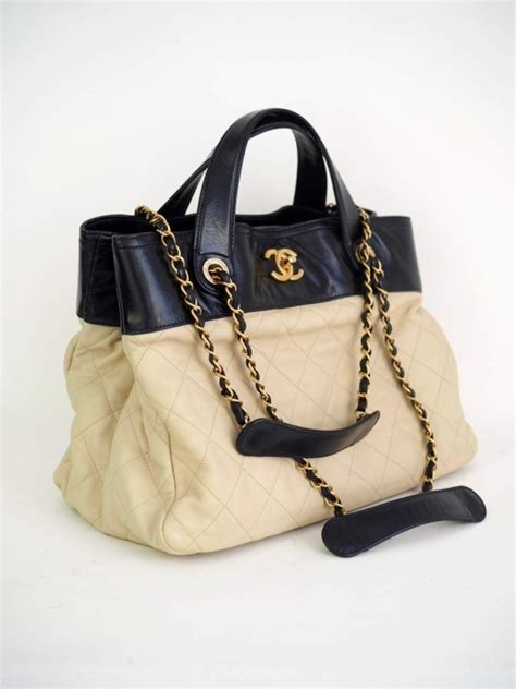 bag chanel shopping tote ivory vintage united