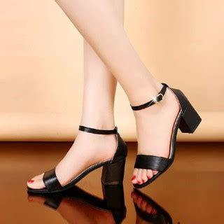 Sandal High Heels Wanita Hak Tahu Sdh156 Favos Store 11317 sepatu sandal cewek wanita high heels wedges hak tahu tali hitam kerja kantor pesta korea murah