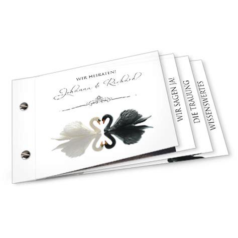 Hochzeitseinladung Booklet by Elegante Hochzeitseinladung Mit Schw 228 Nen Als Booklet