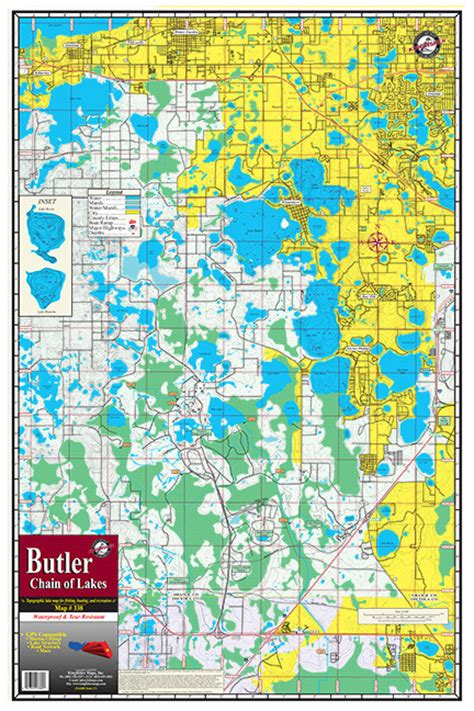 butler chain of lakes boat rs butler chain of lakes 338 kingfisher maps inc