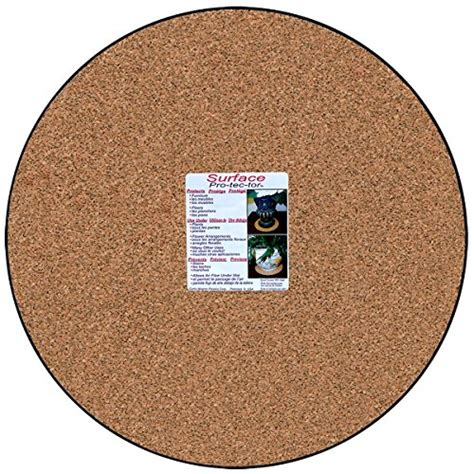 Floor Protectors For Plants | cwp mc 1600 plant mat natural cork 16 inch home garden