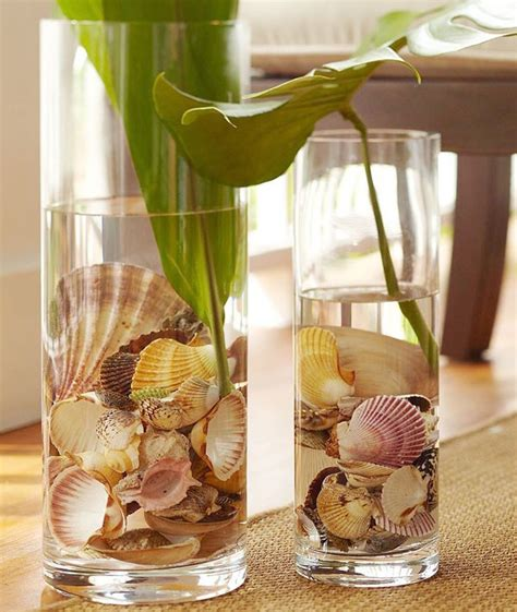 Vases With Seashells by Seashell Vase Display Seashells In A Vase With Or