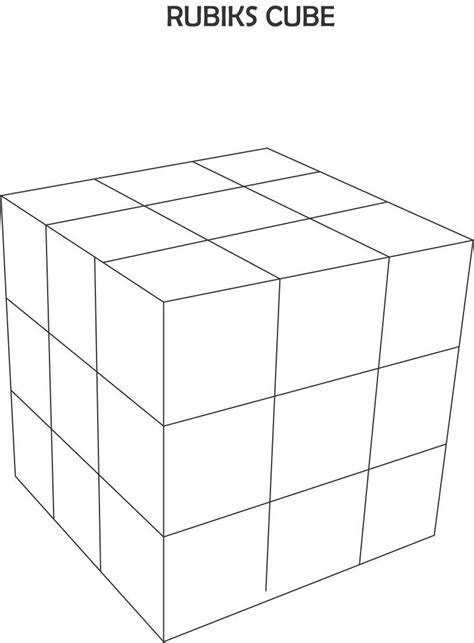 free cube coloring pages