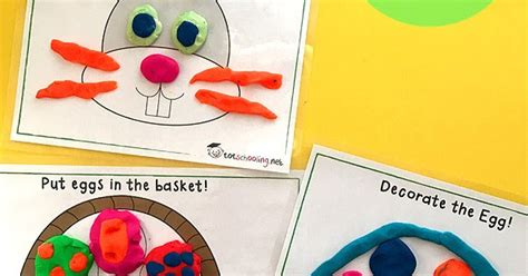 free printable spring playdough mats free easter playdough mats totschooling toddler