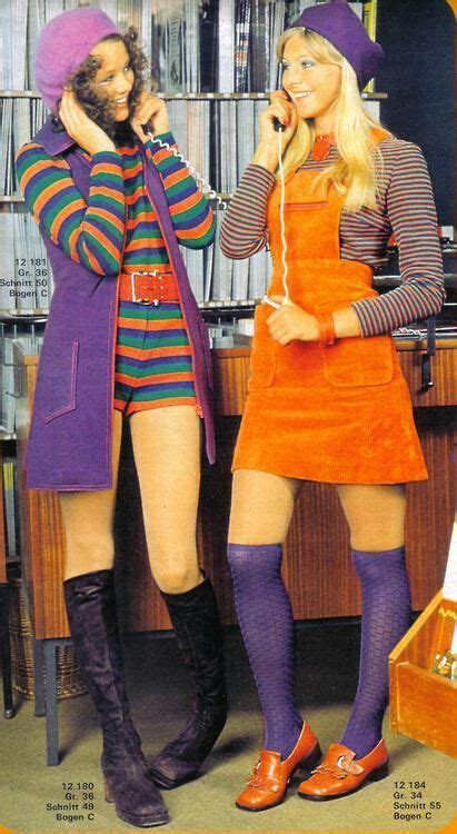 sexy 70s style 60s go go girl mod looks hot pants boots mini skirt dress