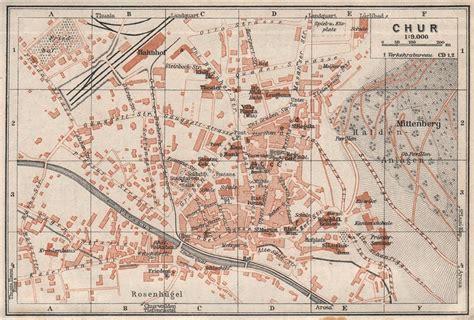 chur map coire chur chur town city stadtplan switzerland suisse