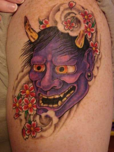 oni mask tattoo meaning 21 great hannya shige tattoos