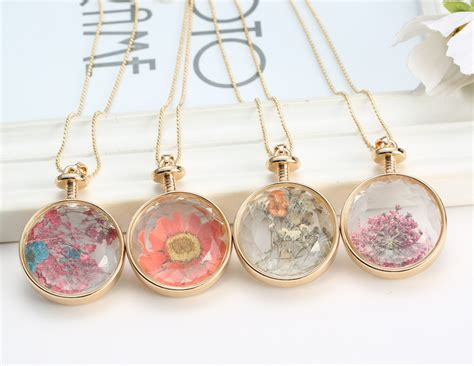 how to make glass jewelry pendants gold glass charms locket pendant real dried pressed