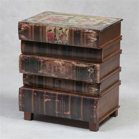 Stacked Book End Table by Books Small Side Table Small Tables Bedside Tables