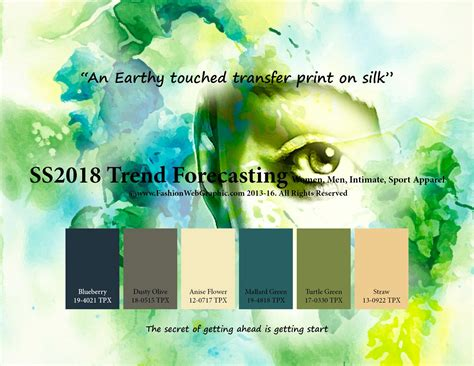 color forecast ss2018 fashion trend forecasting for women men intimate