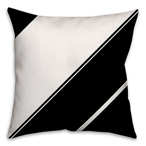 angled bed pillow angled stripes throw pillow in black white bed bath beyond