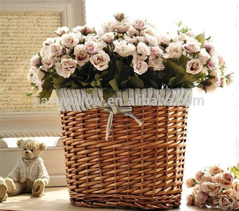 decorative indoor hanging baskets handmade wicker decorative indoor flower hanging basket