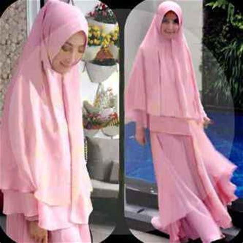 Gamis Syari Linen Pink Plus Bergo Fit L Baju Gamis Syari Rina Set G 709 Busana Muslim Set Bergo