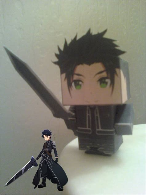Kirito Papercraft - kirito alfeim cubee finished by rubenimus21 on deviantart