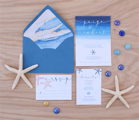Water Themed Wedding Invitations by Water Themed Wedding Invitations Sunshinebizsolutions