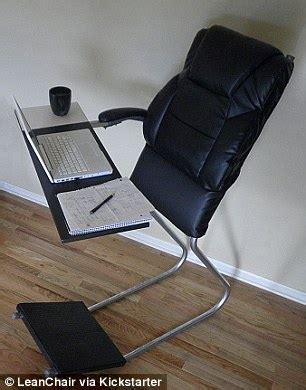 Desk Chair Leans Back Far Leanchair A Cross Between A Standing Desk And Padded