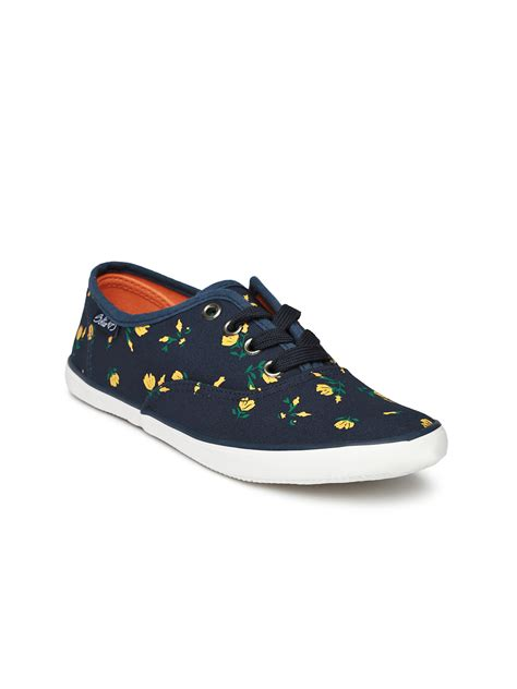myntra shoes myntra boltio navy printed casual shoes 875390 buy
