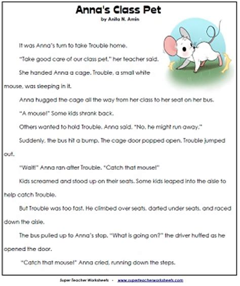 Reading Comprehension Worksheets Grade 2 by Worksheets Picture Comprehension For Grade 2 Opossumsoft