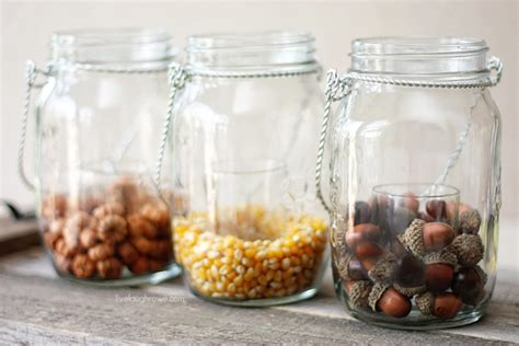 decorating with jars for fall diy fall decor with hanging jars live laugh rowe