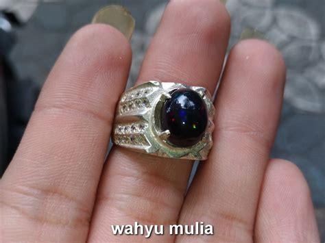 Batu Kalimaya Hitam Black Opa batu black opal kalimaya hitam asli kode 726 wahyu mulia