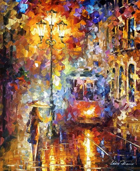 painting for new year afremov original painting palette knife