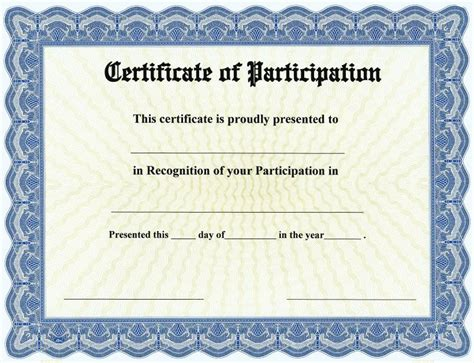 certificate of participation on goes 174 bison series border
