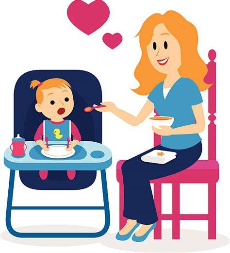 Feeding Clipart royalty free feeding baby clip vector images