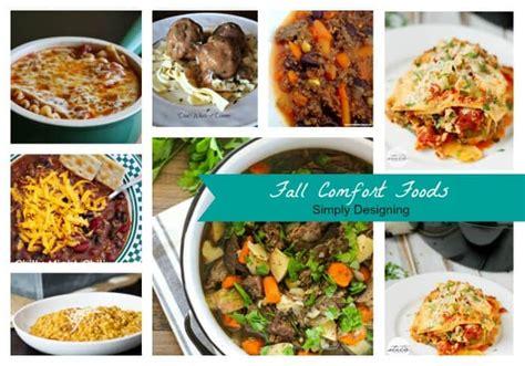 fall comfort food fall comfort foods