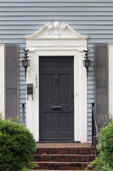 Grey Exterior Door Furniture Extraordinary Grey Front Porch Decoration Using Single Grey Wood Front Door
