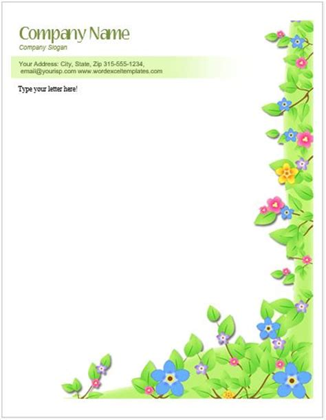 floral letterhead templates  ms word word excel