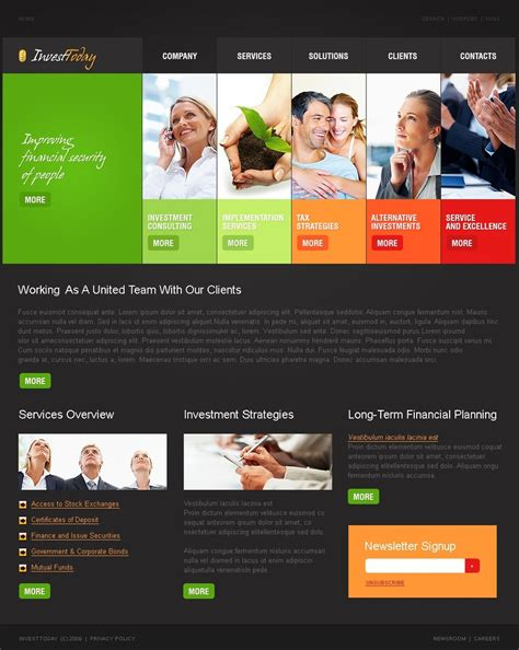 Investment Company Website Template 26046 And Gas Company Website Template