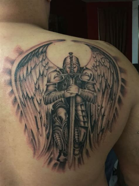 guardian angel tattoo for men guardian by mad tatter future