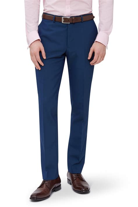 Zara Button Maxi 940 mens blue suit trousers go suits