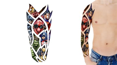 superhero tattoo designs design artwork gallery custom