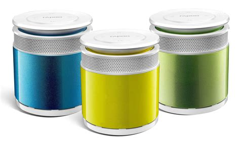 Rapoo A3060 Bluetooth Mini Speaker Orange tiny rapoo portable bluetooth speaker is less than 3 inches