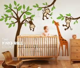 Nursery wall stickers to decorate baby bedroom ideas