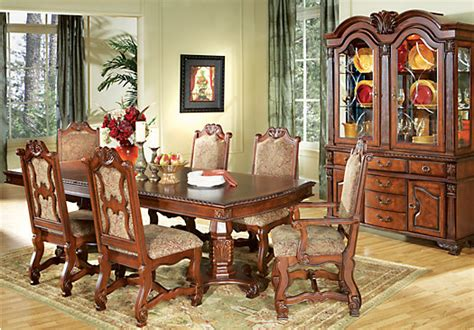 rooms to go dining room sets carpathian cherry 7 pc rectangle dining room dining room