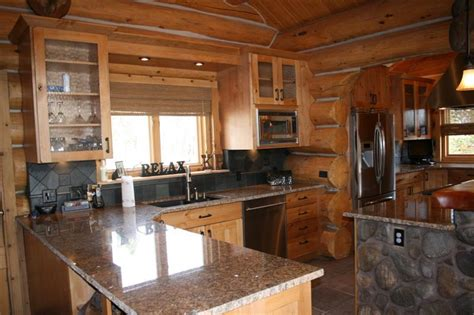 Cabin Kitchen Design Beautiful Log Cabin Kitchen Design In Colorado Jm Kitchen And Bath