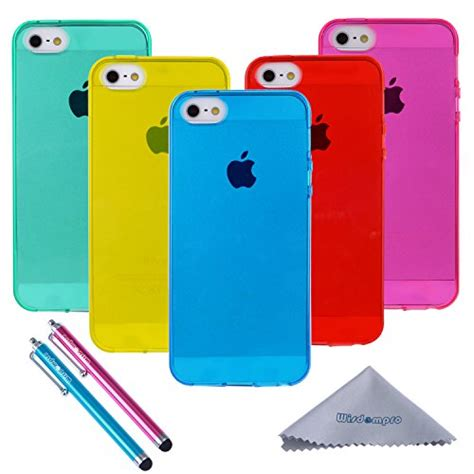 For Iphone 5 5s Se Soft Jelly Cat Iphone 5s Wisdompro 5 Pack Bundle Of Clear Jelly