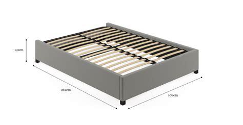 standard upholstered slatted bed base size