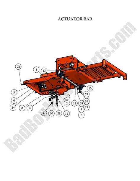 Actuator 2 Position Bed bad boy parts lookup 2009 zt actuator bar