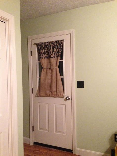 curtain rods doors burlap door curtain with magnetic curtain rods for the