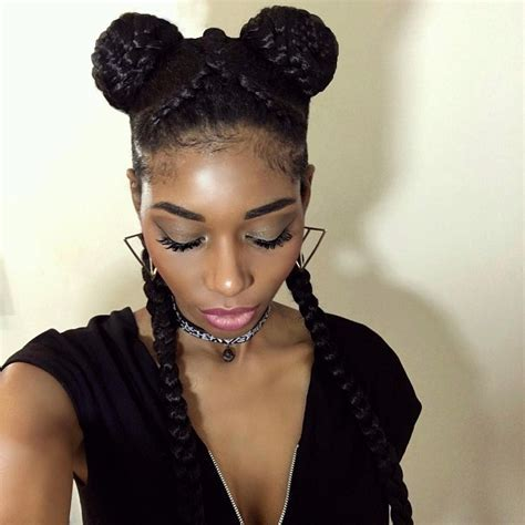 protective hairstyles buns protective styles for 4c hair hergivenhair